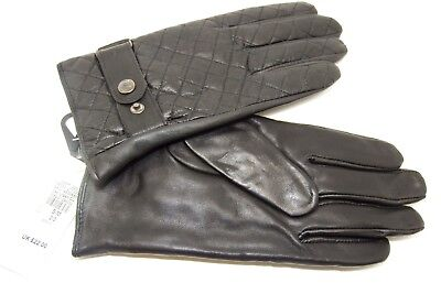 Men/'s Quilted Fleece  Lined Leather Gloves winter WOW  WARM !!!