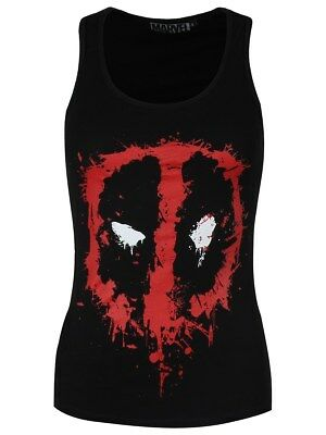 Marvel Deadpool Splash Head Racerback Women's Black Vest
