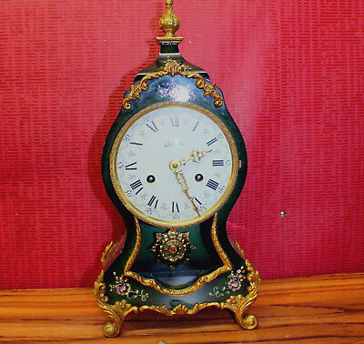 Old Mantel Clock Shelf Bracket Clock Boulle Louis Philippe **8 Day *BELCANTO***