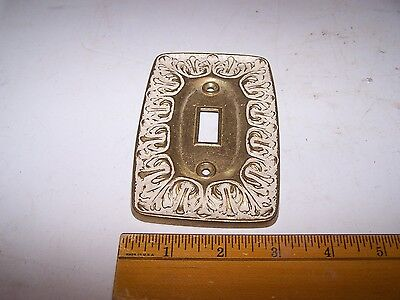 Vintage Cast Brass Switch Plate Cover - Mid Century - Gaudy