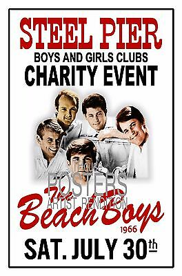 The Beach Boys 1966 STEEL PIER Atlantic City Poster Art Rendition THouse 2017