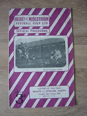 1955/56 *****cup Run***** Hearts V Stirling Albion