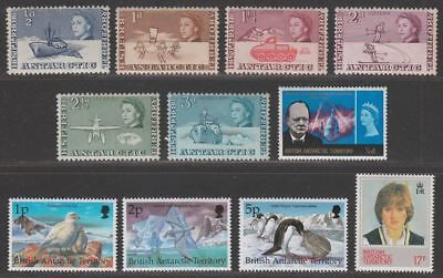 British Antarctic Territory 1963 QEII Set to 3d with others Mint SG1-6