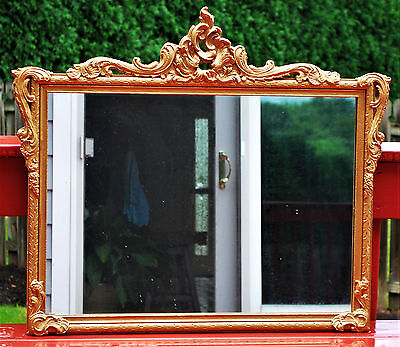 Large Antique Gold Gilt French Wall Mirror