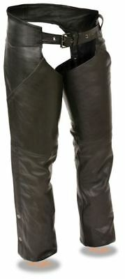 Milwaukee Leather Womens Hip Pocket Chaps W/Reflective Piping Black