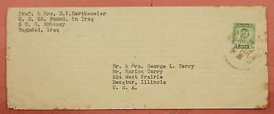 1953 Iraq Folded Letter From Us Embassy Baghdad + Interesting Letter