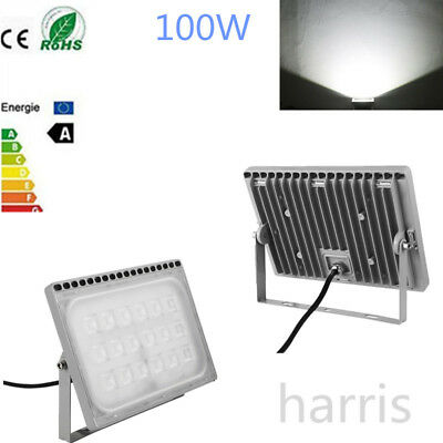 100W 220V IP65 LED Cool White Floodlight Spotlight Garden Outdoor Safety Lamp