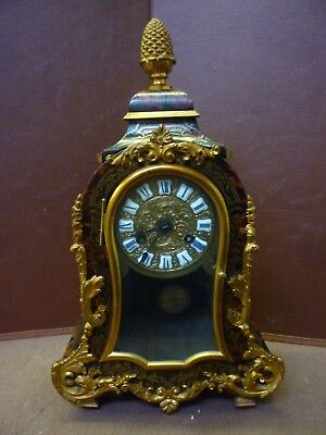 Unusual Shape Antique Boulle Mantel Clock Full Working Order And Good Condition