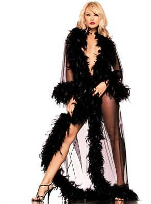 Adult Women The Glamour Feather Trim Robe