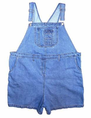 New Addition Womens Maternity Dungarees Shorts XL Denim Jumpsuit Plus Size (408)