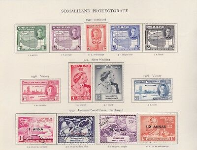 Somaliland Stamps Old Time Page King George Vi Mint Including High Values