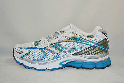 Saucony Progrid Triumph 7 Womens Running Shoes size 6 WIDE WHITE BLUE