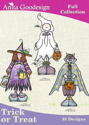 Anita Goodesign Trick or Treat Embroidery Machine Design CD NEW 51AGHD