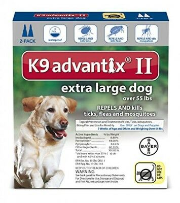 K9 Advantix II Flea, Tick and Mosquito prevention for XLarge Dogs, over 55 lbs,