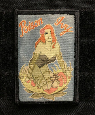 Poison Ivy MORALE Patch  Tactical ARMY Hook Military USA Badge Flag