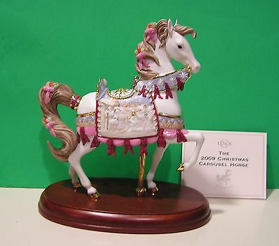LENOX 2009 annual CHRISTMAS CAROUSEL HORSE Nativity NEW in BOX with COA