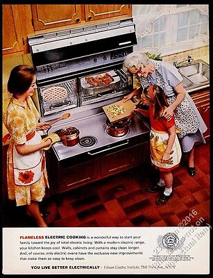 1965 Frigidaire Flair pull-out cooktop double oven range photo vintage print ad