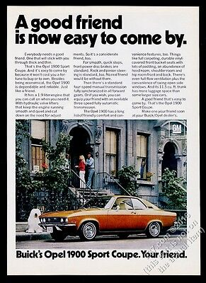 1972 Old English Sheepdog photo Buick Opel 1900 coupe car A Good Friend print ad