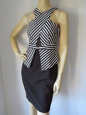 SEDUCE   Size 10  Stunning Black & White DESIGNER Dress    Races!! Ladies