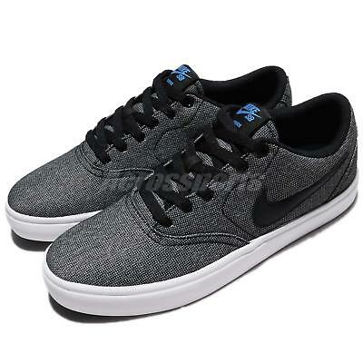 Nike SB Check Solar CNVS Canvas Black Photo Blue Men Skate Boarding 843896-004