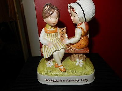 Vintage Holly Hobbie  Porcelain Figurine Happiness Is A Year Round Thing