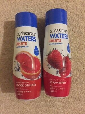 soda stream fruits flavours, blood orange and Strawberry