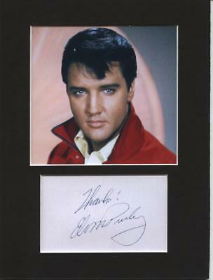 Elvis Presley signed printed autograph 8x6 mounted print display gift