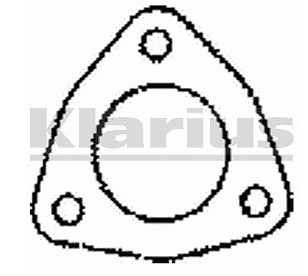 Klarius Part Number : BLG39 - 3 pin exhaust gasket - 51mm ID -  BLG39AQ / 410062
