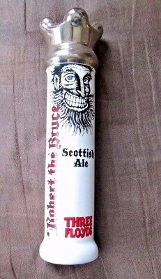 """New Three Floyds """" Robert The Bruce '' Scottish Ale Beer Porcelain Handle"""
