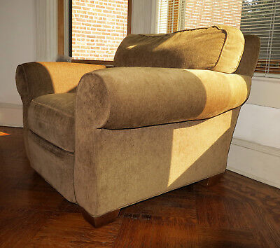 Super Plush Handcrafted Arm Chair With Matching Ottoman