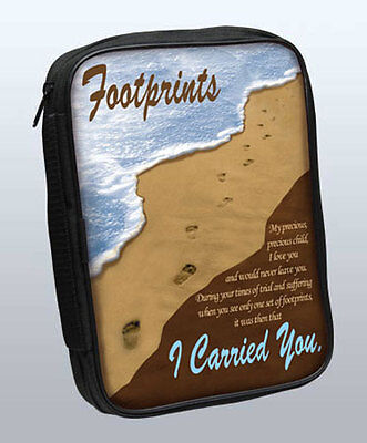 Bible Cover:  Footprints .. I Carried You.