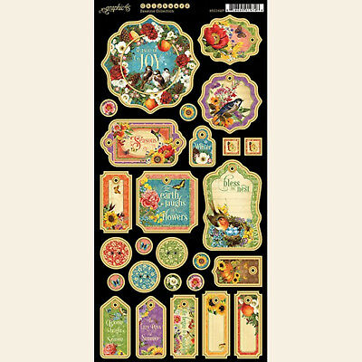 4501351 Graphic 45 Enchanted Forest Journaling Chipboard