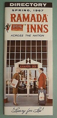 Ramada Inn Directory Spring 1967 Motel Guide Advertising w/ All Vintage Inserts