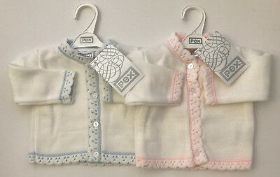 Baby Girls Boys Cardigan Embroidered 0-3 3-6 Months Designer British Pex