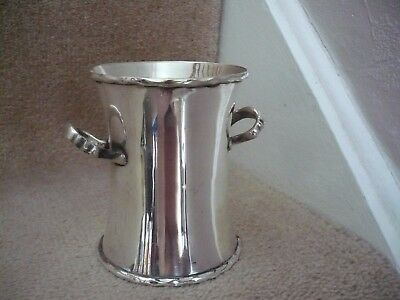 A Vintage Walker & Hall And Sons Cross Arrows Silver Plated Twin Handled Vase