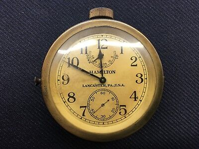 Hamilton US Navy Deck Chronometer 1942 WWII WW2 Watch RARE Model 22 21 Jewel