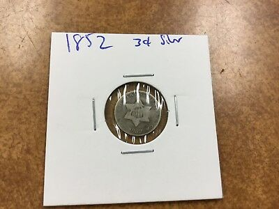 {BJSTAMPS} 1852 Three Cent 3¢ Silver Coin some problems, still nice no reserve