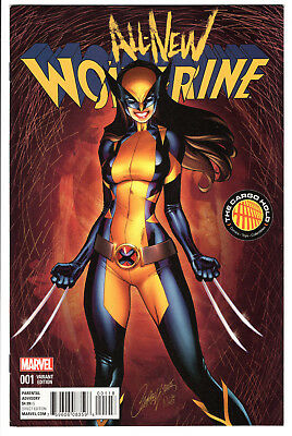 All-New Wolverine #1 J. Scott Campbell Tch Color Variant Vf+ X-23 Hot!
