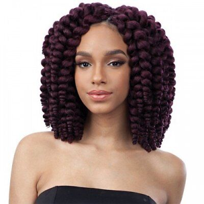 Smooth Bouncy Synthetic Hair Crochet Braids 2X Fluffy Wand Curl 1B by FreeTress