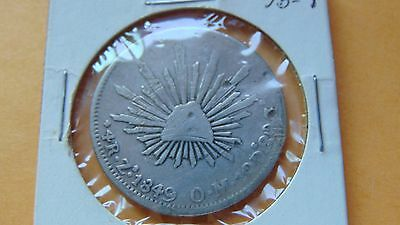 1849 4 reales Zs Zacatecas OM Silver Coin