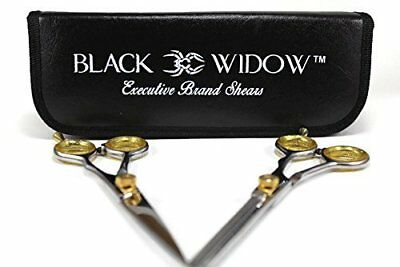 "Smooth Hair Sharp Cutting Scissors Thinning Texturizing Set - 6"" by Black Widow"