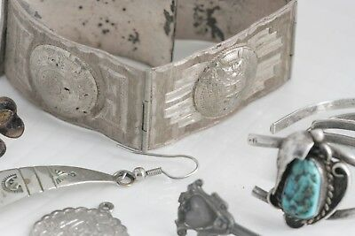 Lot of Sterling Silver Turquoise Native American Jewelry Charms For Scrap Repair