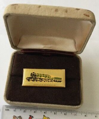 Vintage 1989 Flying Scotsman Australian Tour Pin Back Badge In Presentation Box