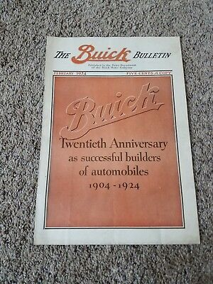 The Buick Bulletin  1924 Published by Sales Dept of the Buick Motor Co. ORIGINAL