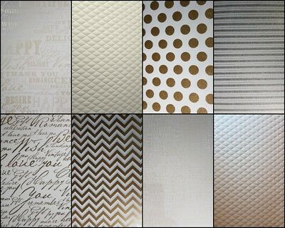 A4 Patterned Heavy Paper/Card Spots Calligraphy Embossed Glitter Stripes Zig Zag