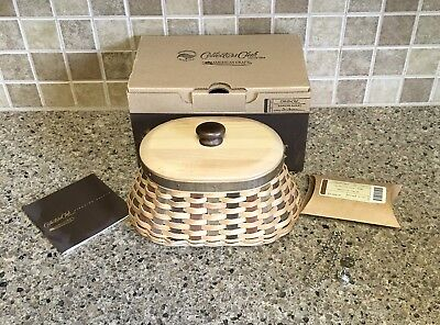 LONGABERGER COLLECTORS CLUB AMERICAN CRAFT FIRESIDE BASKET,Lid Protector Tie On