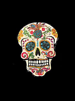 Day of the Dead Pin Brooch Handcrafted Wood Sugar Skull Halloween Jewelry Mask