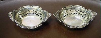 2 Lovely Gorham Strasbourg Pattern Sterling Silver Nut Dishes Mono ERK 45.95 Gr