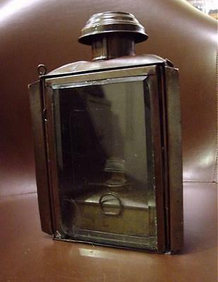 Antique Copper Ships Cabin Lantern HD Edwards Ship Chandlers Of Detroit W/ Font