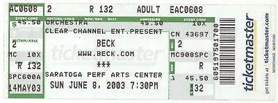 Rare BECK 6/8/03 Saratoga NY Performing Arts Center Concert Ticket!